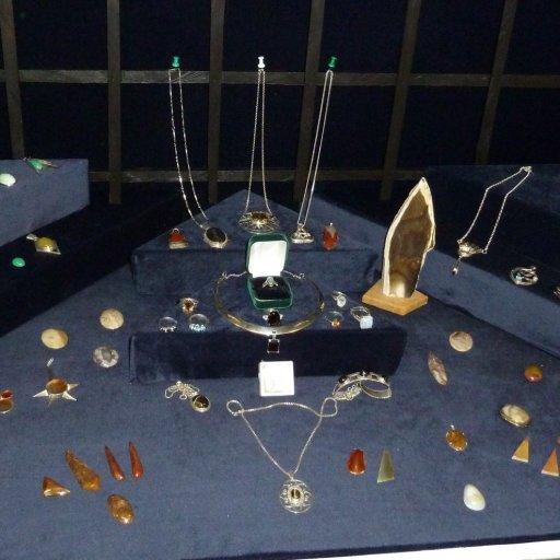 Jewellery display by member