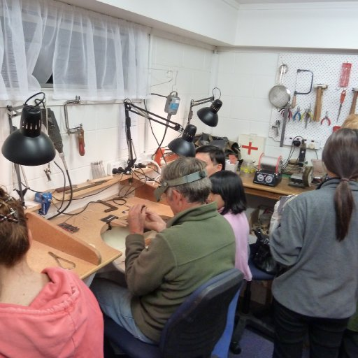 Silversmith room in operation